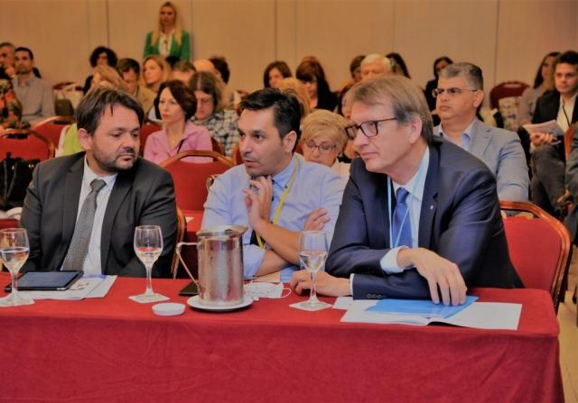 Με τον πρόεδρο και το μέλος της διοίκησης του European Assosiation of Hospital Managers