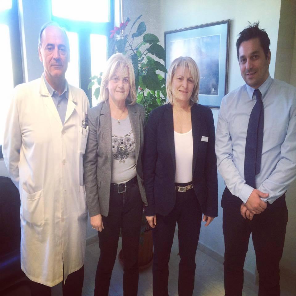 Με τους Διευθυντές Ιατρικής, Νοσηλευτικής, Διοικητικής Υπηρεσίας