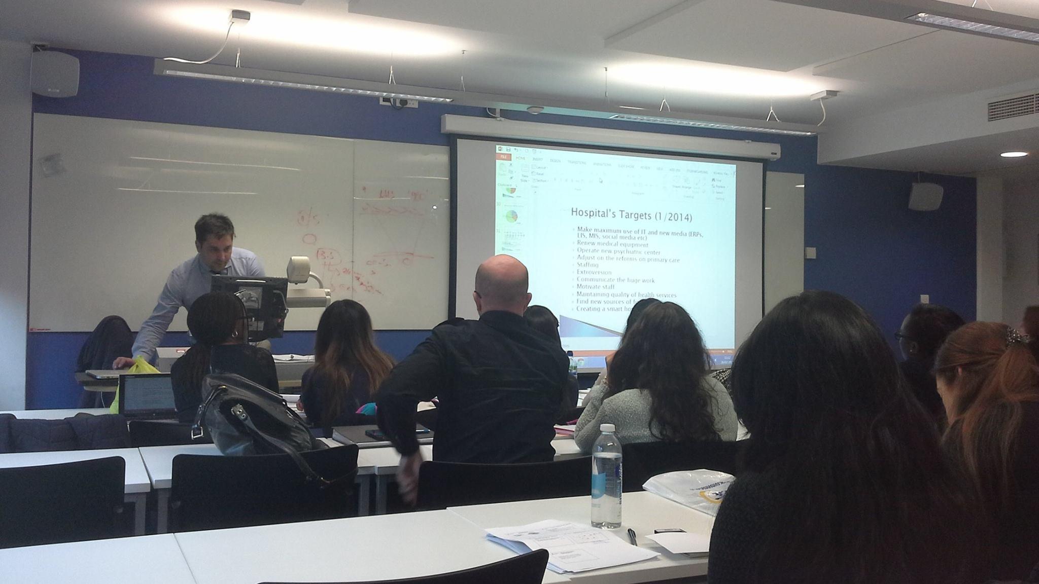 Teaching MSc students