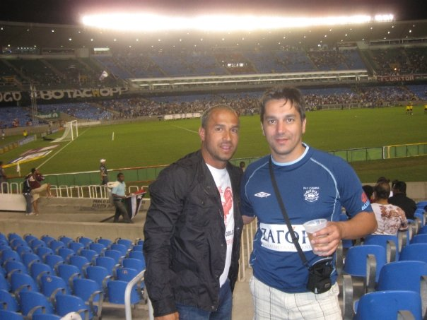 Με τον Luciano de Souza στο Μαρακανά του Ρίο Ντε Τζανέιρο