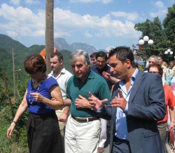 Με τον Μάικλ Δουκάκη, Βρυσοχώρι Ζαγορίου, 2009