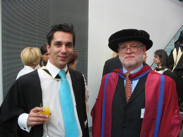with Professor of Economics David Begg (2005)